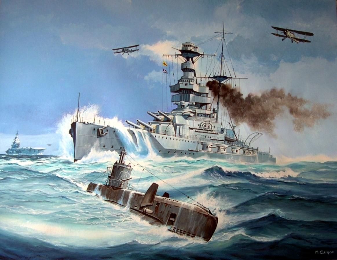 Guyot Michel. Линкор «Warspite».
