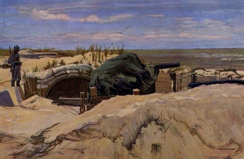 Janesch Albert. Артиллерийская батарея.