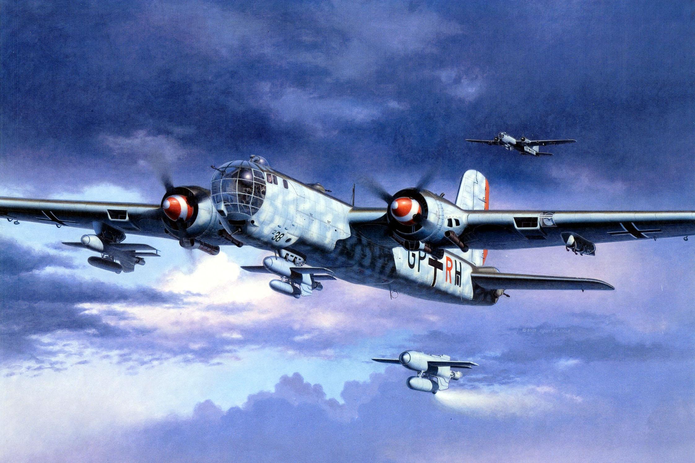 Friedl Egbert. Бомбардировщик He-177.