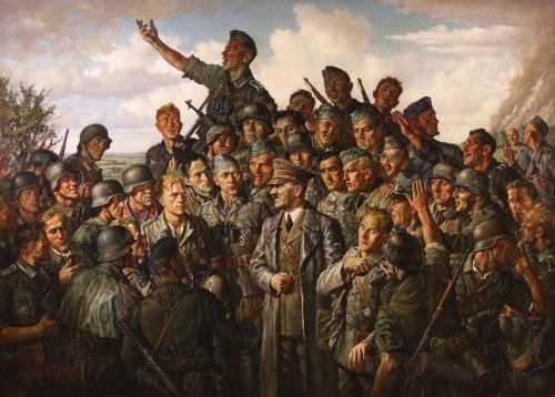Scheibe Emil. Гитлер на фронте.