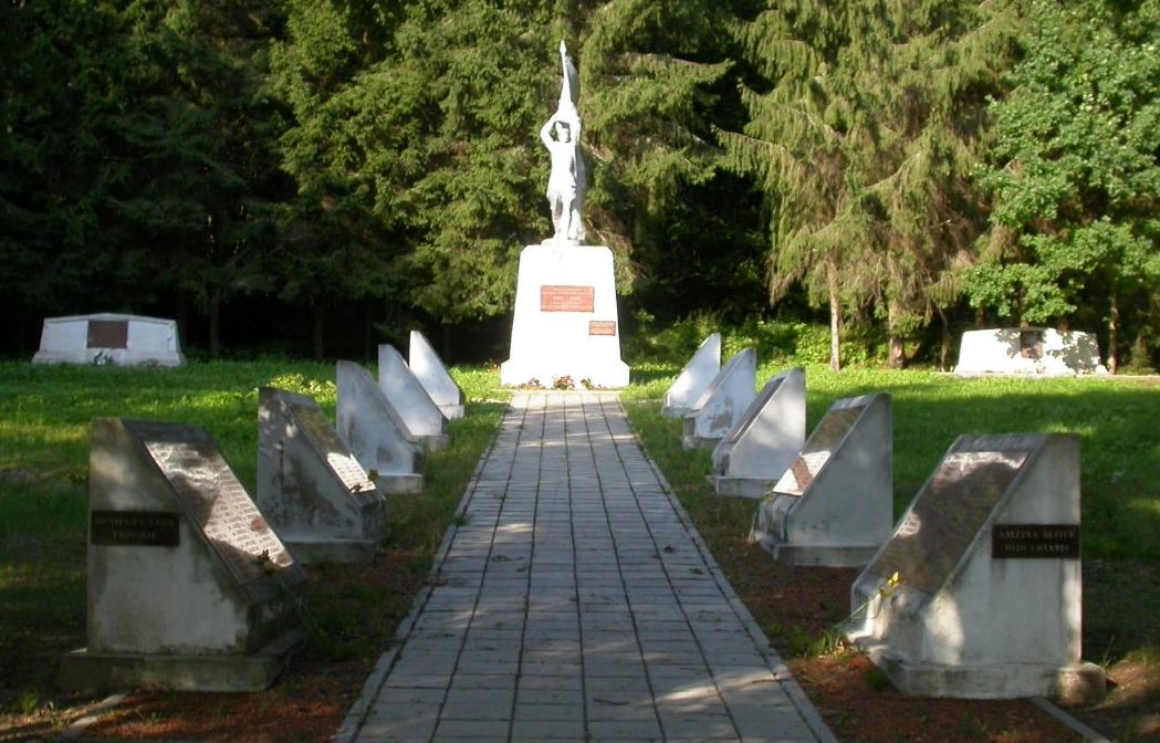 Общий вид воинского кладбища.
