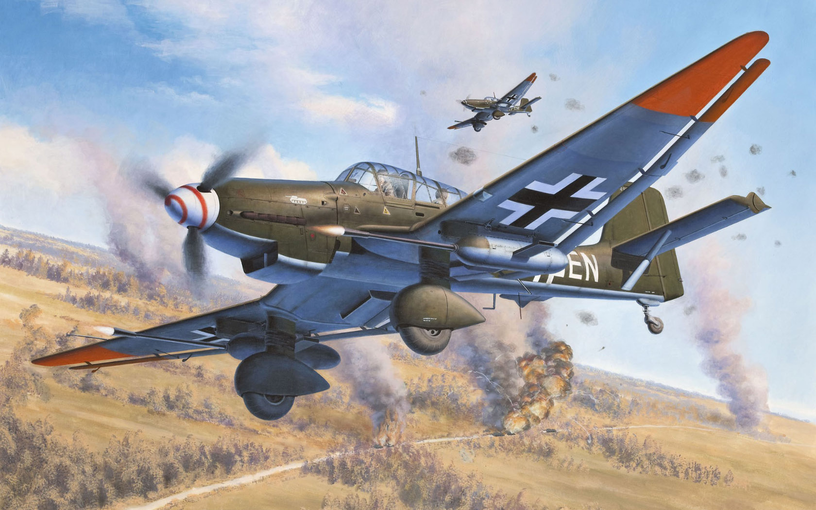 Friedl Egbert. Штурмовик Ju-87.