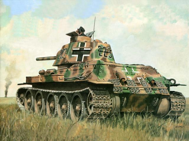 Horst Helmus. Трофейный Т-34/76.