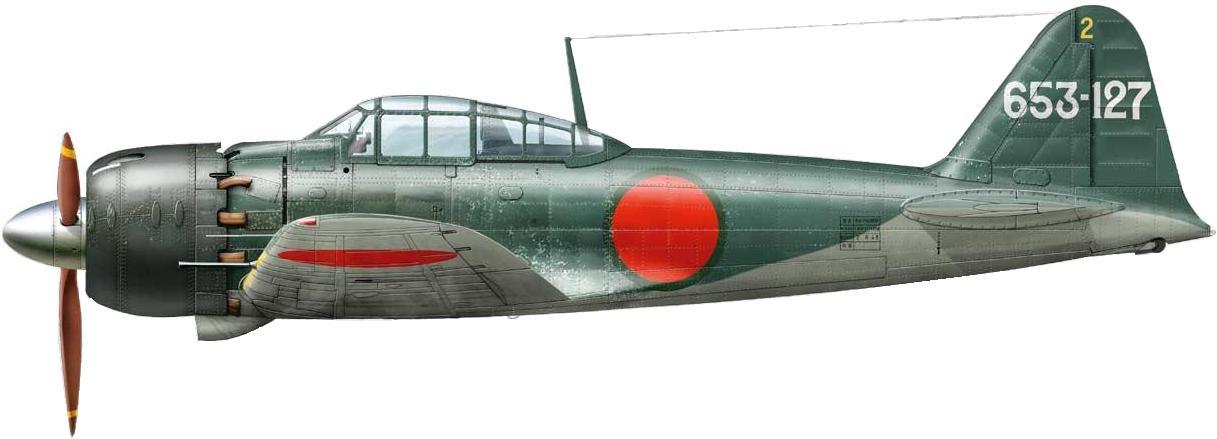 Dekker Thierry. Истребитель Mitsubishi A-6M.