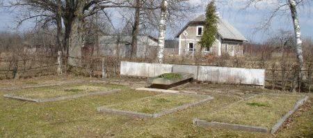 х. Анготыняс, край Сигулдас. Воинское кладбище, где похоронен 171 воин, погибший в годы войны.