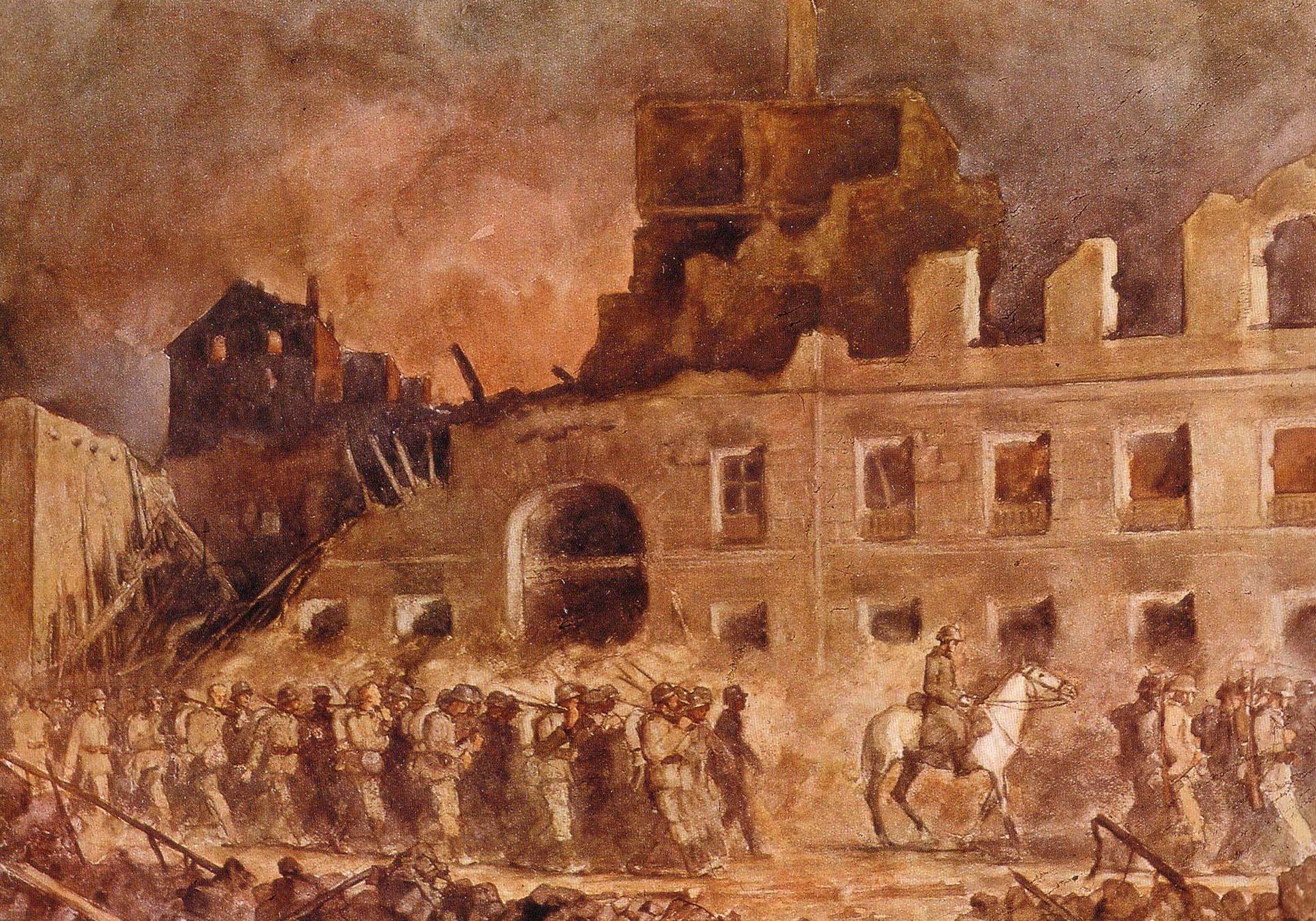 Eichhors Franz. Немецкие войска в Варшаве.