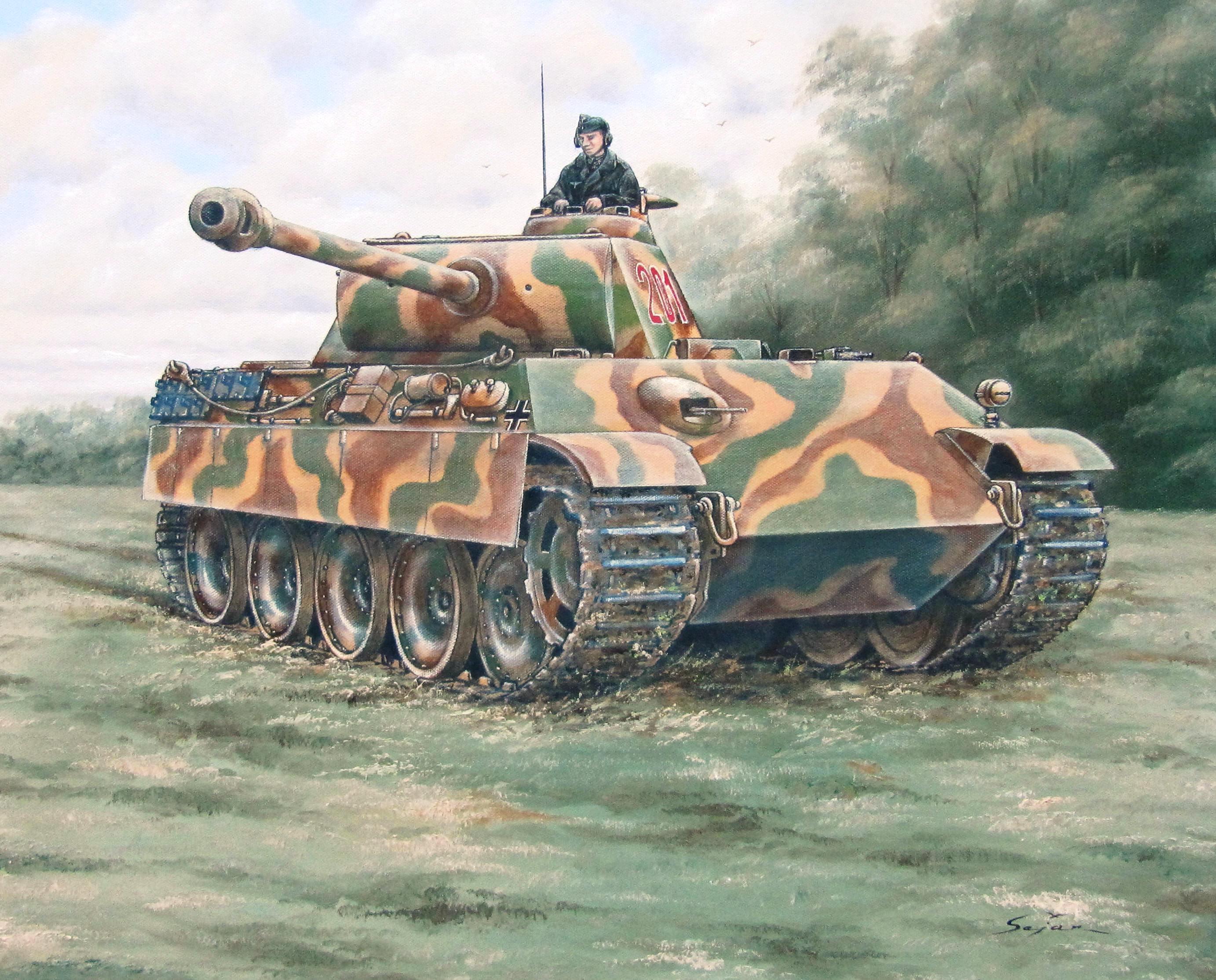 Бекиров Сеяр. Танк Pz.Kpfw V Panther Ausf. G.