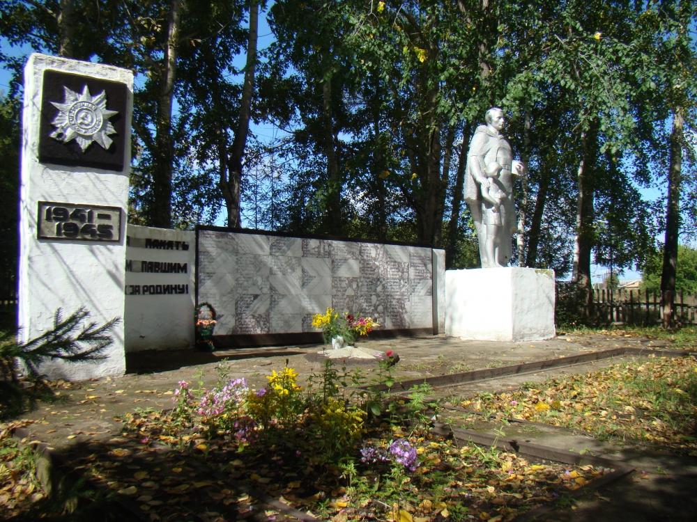 с. Новокаменка Ельцовского р-на. Памятник павшим в годы Великой Отечественной войны был установлен в 1978 г.