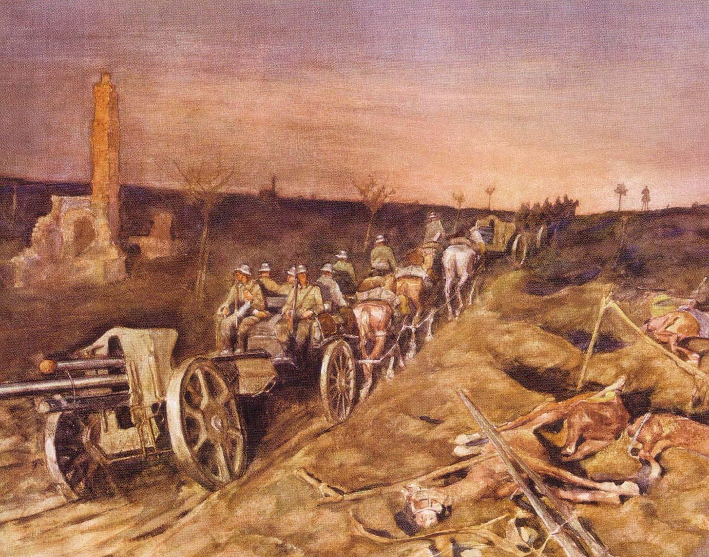 Eichhors Franz. Артиллерия в Польше.