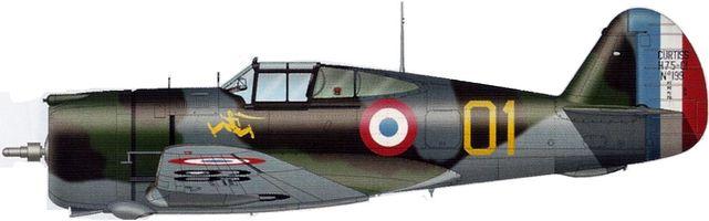 Tilley Pierre-André. Истребитель Curtiss H-75 A-2.