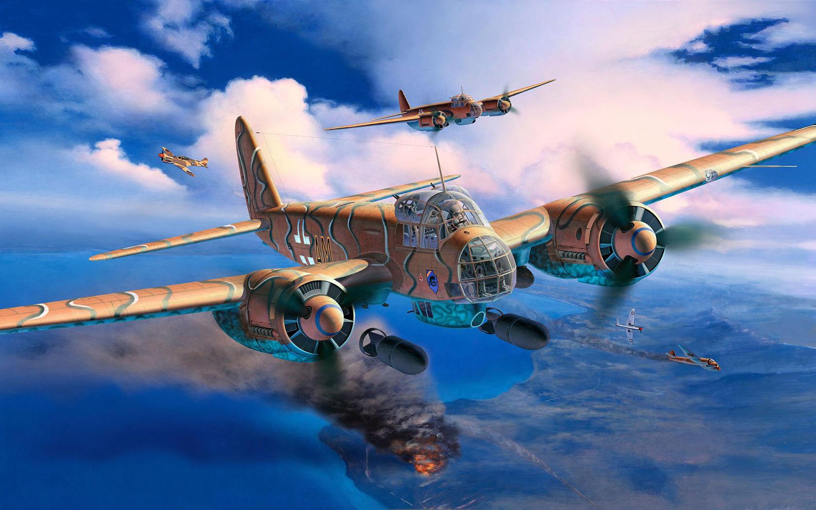 Friedl Egbert. Бомбардировщик Ju-88 A-4.