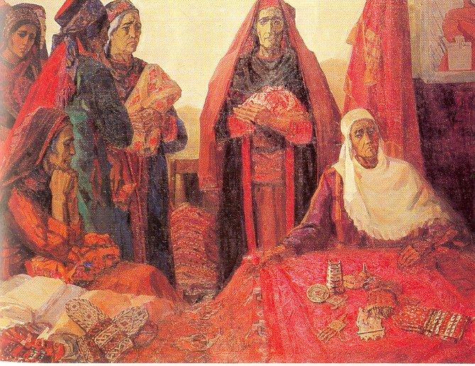 Адамова Евгения. Туркменские матери – Родине.