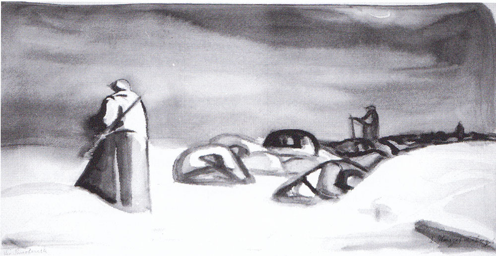 Hengstenberg Rudolf. Зимняя ночь у Смоленска.