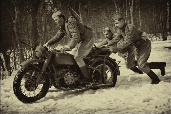 Мотоцикл М-72. 1943 г.