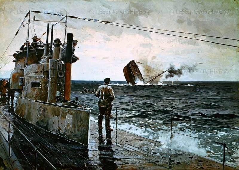 Bergen Claus Friedrich. Морской бой.