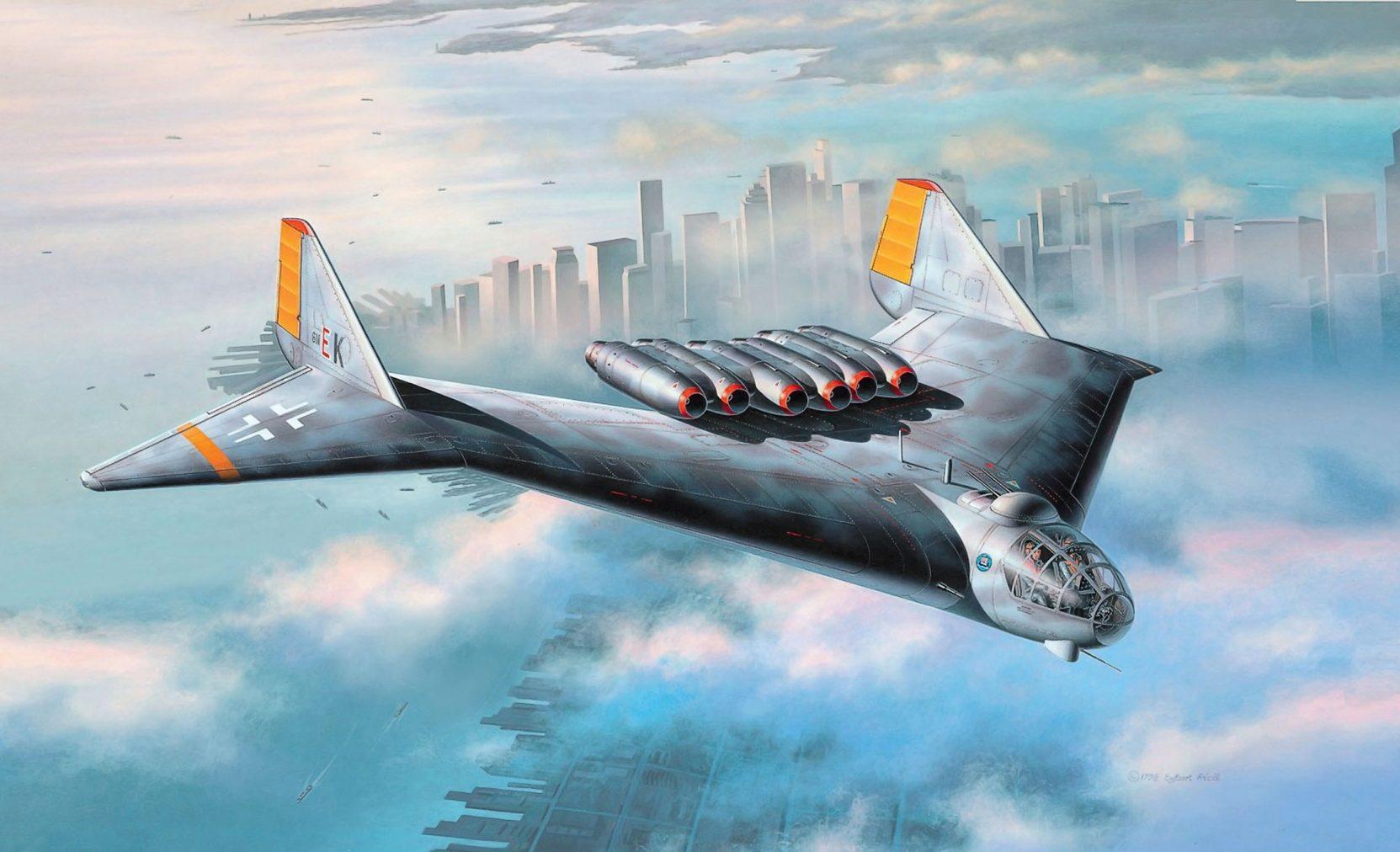 Friedl Egbert. Бомбардировщик Arado Ar. E 555.