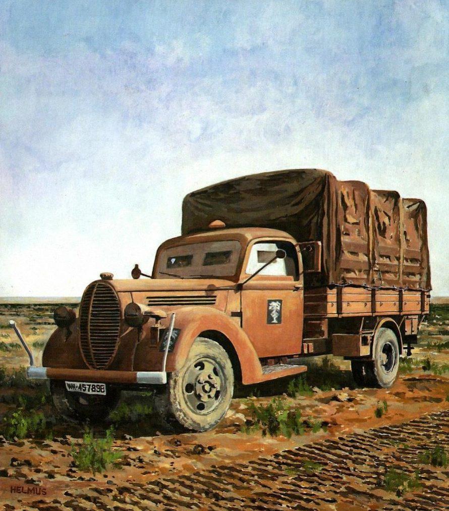 Horst Helmus. Военный грузовик.