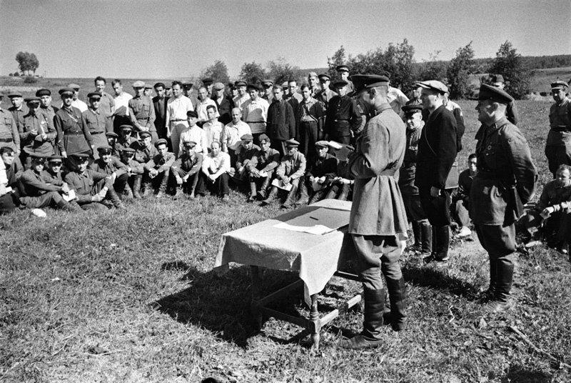 Ополченцы под Москвой. Сентябрь, 1941 г.
