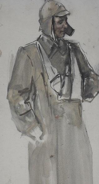 Адливанкин Самуил. Раненный солдат.