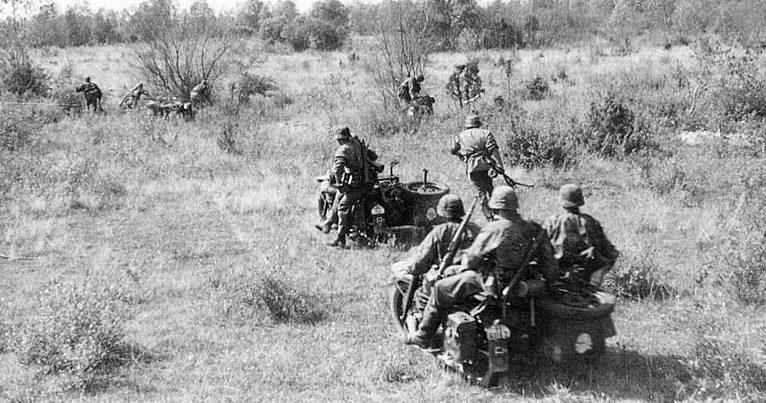Наступление. Новгородская область. 1941 г.