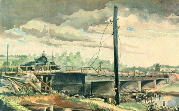 Brauner Fritz. Танк на мосту.