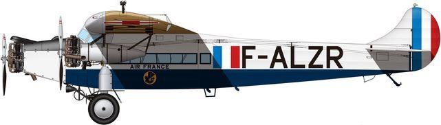 Tilley Pierre-André. Военно-пассажирский самолет Fokker FVIIb 3m.