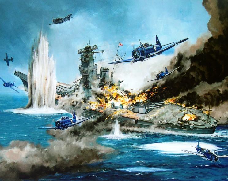 Guyot Michel. Гибель линкора «Yamato».