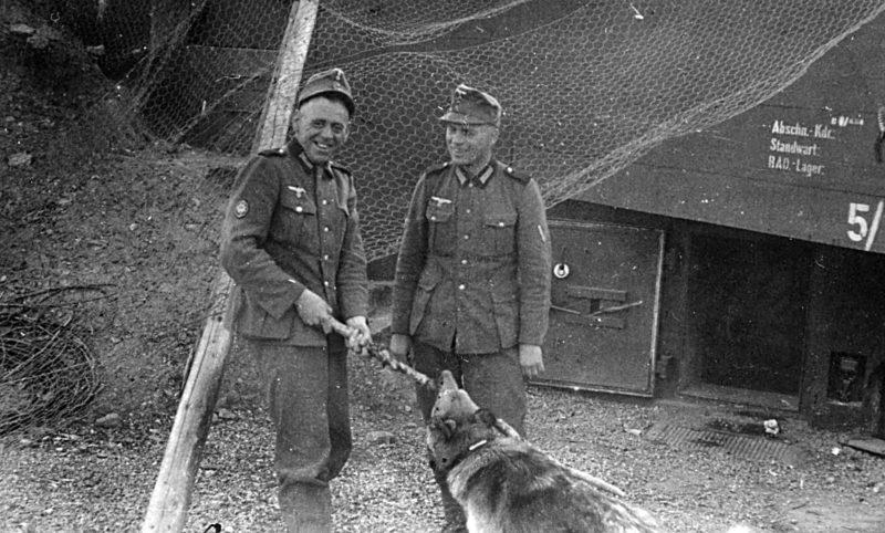 Охрана бункера. 1940 г.
