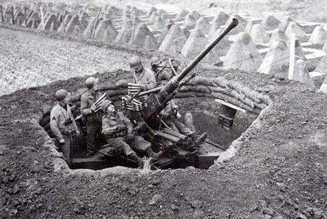 Позиция зенитчиков. Март, 1940 г.