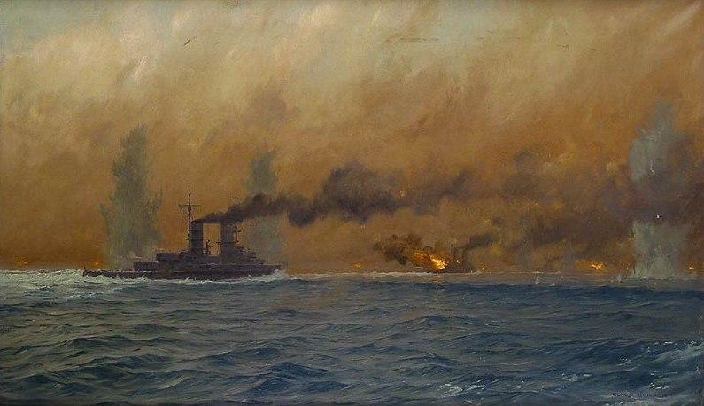Bergen Claus Friedrich. Морское сражение.