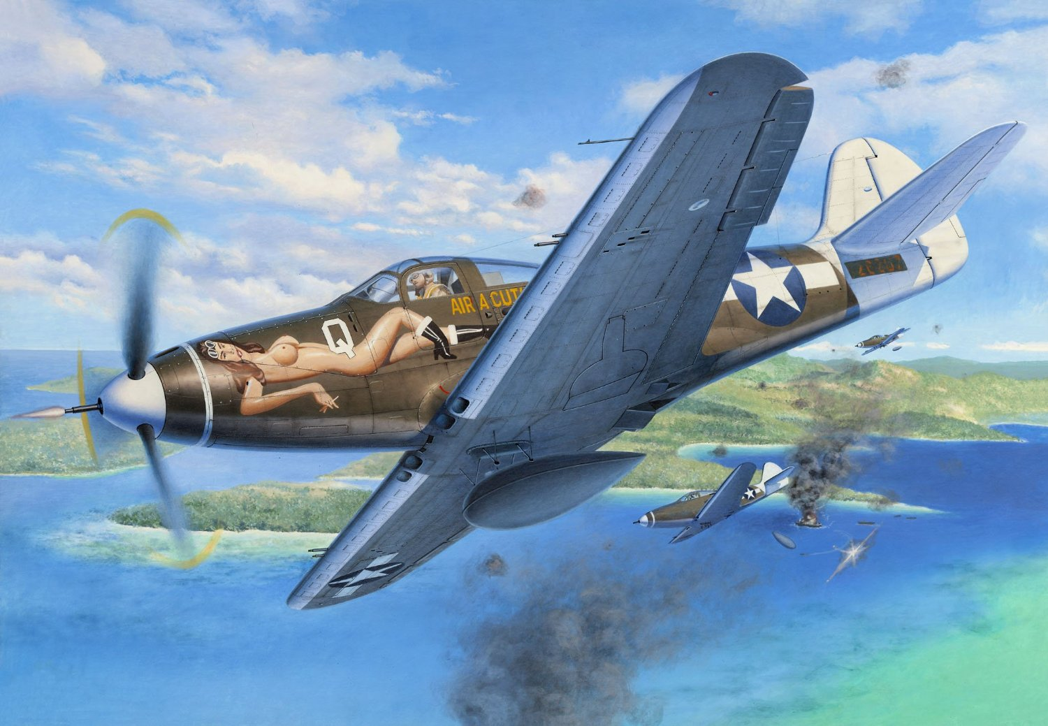 Friedl Egbert. Истребитель P-39D Airacobra.