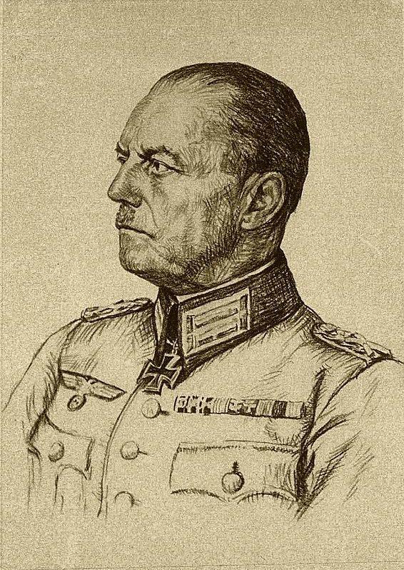 Oskar Graf. Портрет Gerd von Rundstedt.
