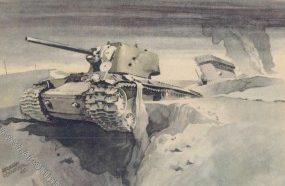 Schneider Hermann. Поврежденный КВ-1.