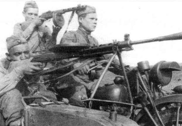 Мотоцикл «Индиен 741В». Центральный фронт. 1943 г.