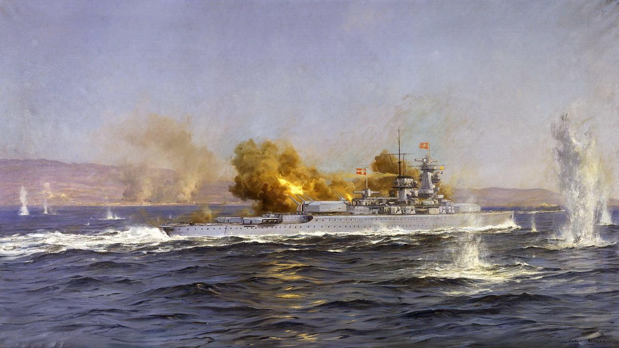 Bergen Claus Friedrich. Линкор «Admiral Scheer».