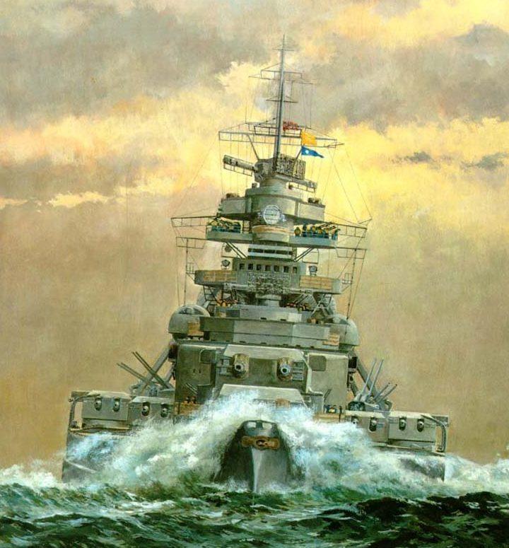 Horst Helmus. Линкор «Bismarck».