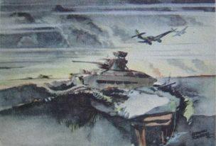 Schneider Hermann. Подбитый танк Матильда.
