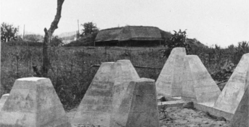 ДОТ за линией тетраэдров. Сентябрь, 1939 г.