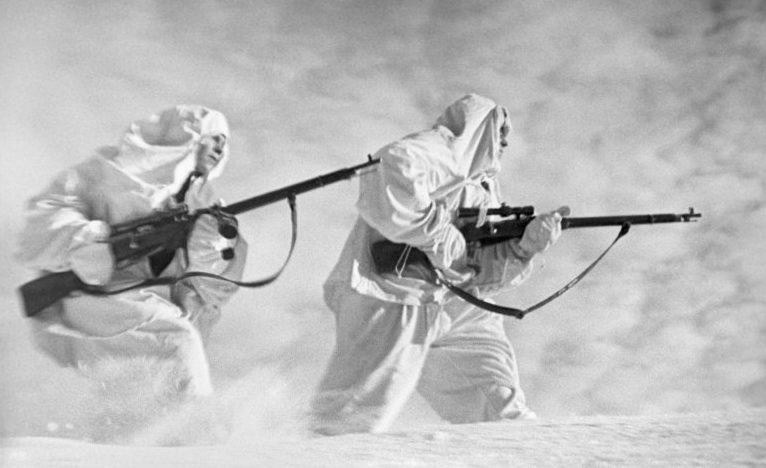 Снайперы под Ленинградом. Декабрь 1942.