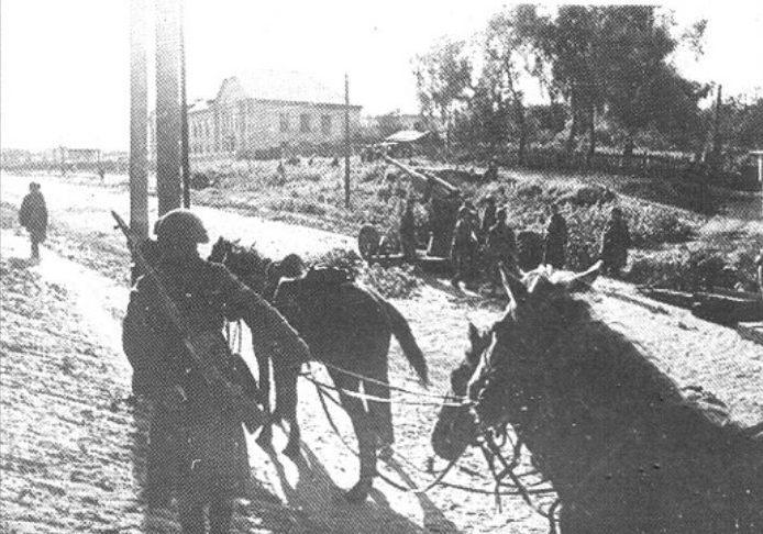 Проспект Науки в районе улицы Лысогорской. Осень 1941 г.