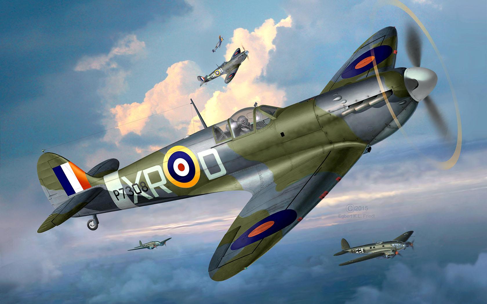 Friedl Egbert. Истребитель Supermarine Spitfire Mk.IIa.