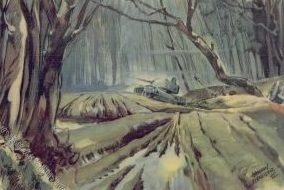 Schneider Hermann. Танки в лесу у деревни Колодезы.