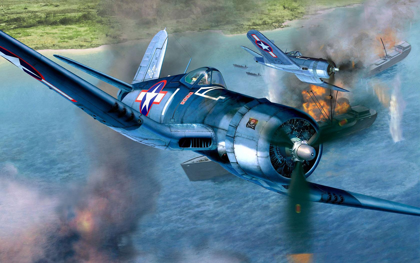 Friedl Egbert. Истребитель F-4U1A.