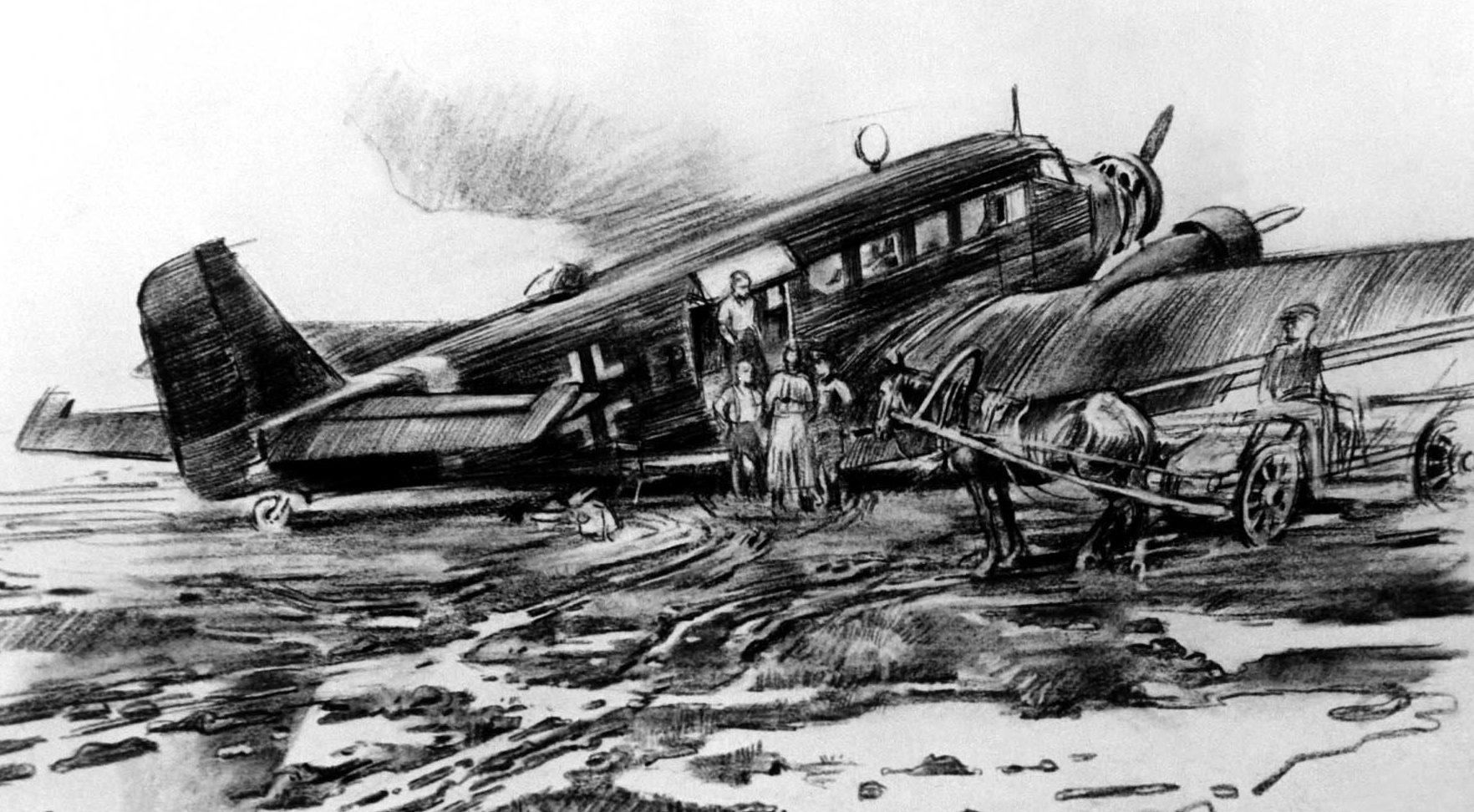 Junghans Fritz. Полевой аэродром.