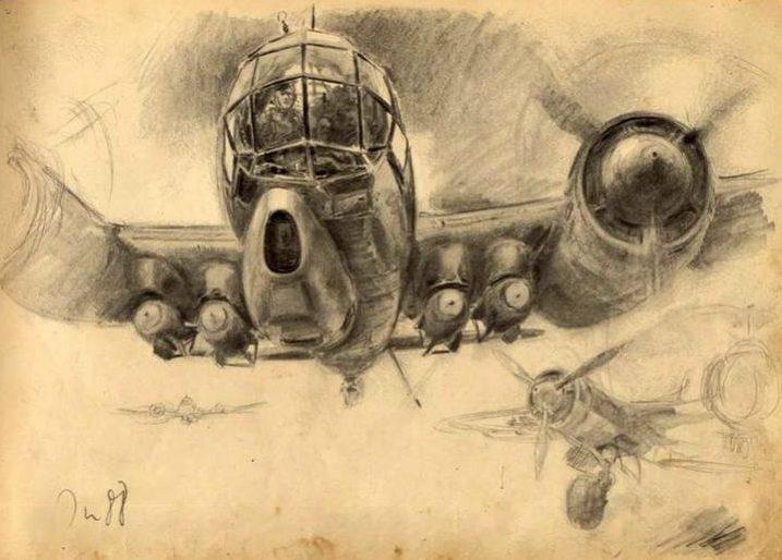 Liska Hans. Бомбардировщик Ju-88.