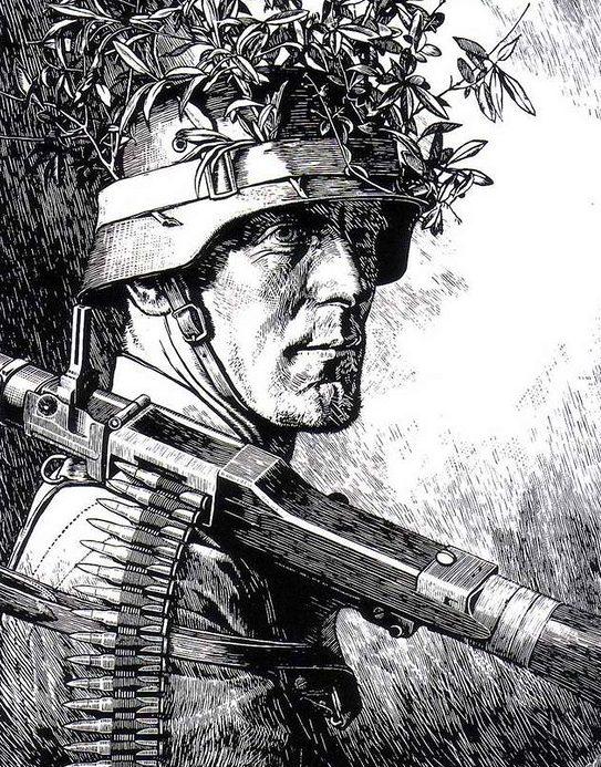 Sluyterman Georg. Пехотинцы.