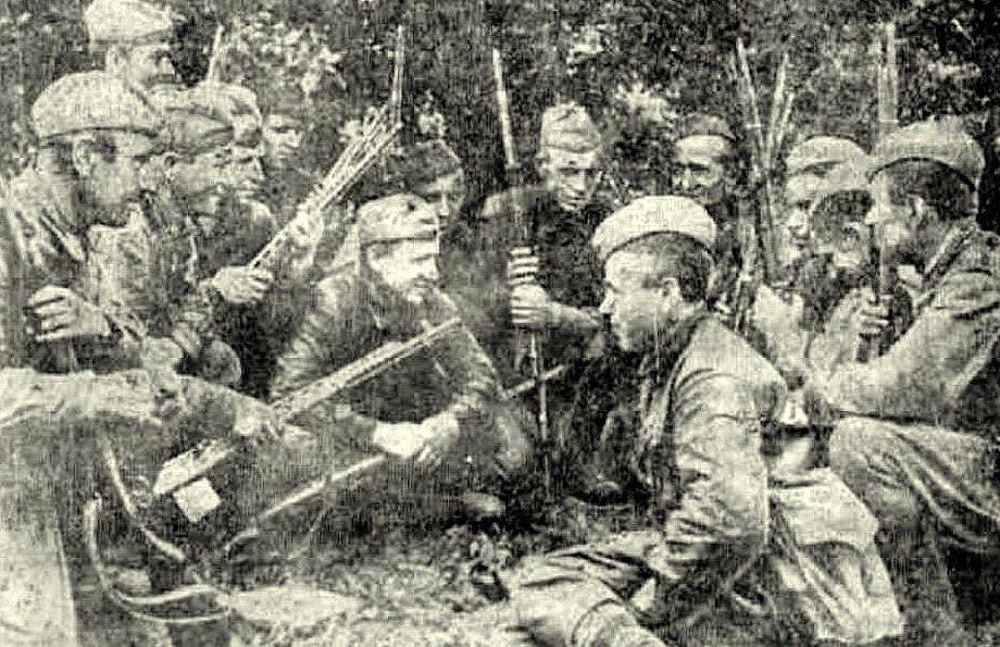 Снайперское отделение М. Брыксина. Июнь 1942 г.