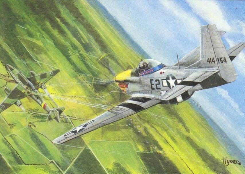 Hybner Gustav. Истребитель Mustang P-51D.
