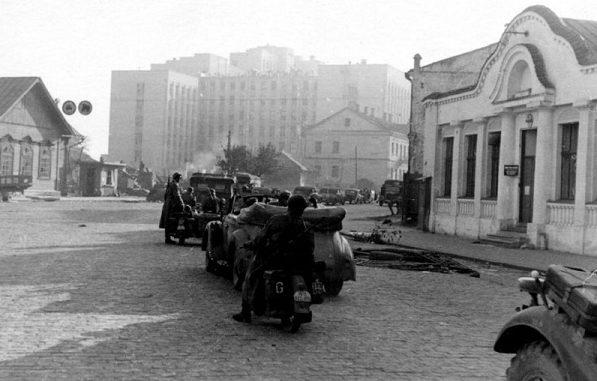 Центральная часть города. Осень, 1941 г.