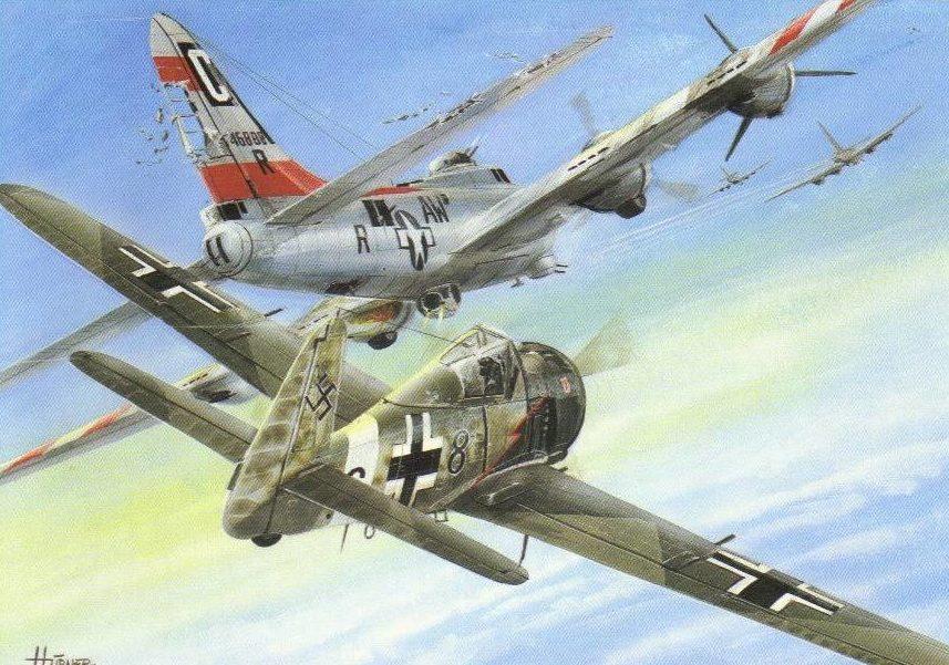 Hybner Gustav. Истребитель FW-190A-8.